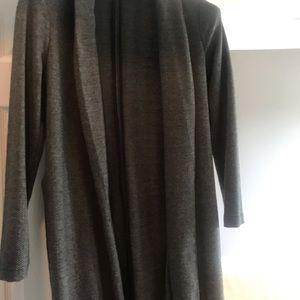 Long grey Dynamite ladies Cardigan. Soft wool.
